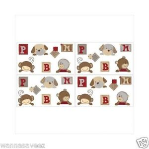 Cocalo baby buttons nursery wall sticker decals puppy dog for Belly button bears wall mural