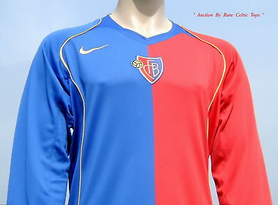 BNWT FC Basel Player Issue Long Sleeved Shirt Size XL