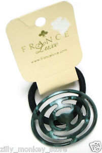 France-Luxe-Oval-Ponytail-Holder-Bloomie-Cutout-Green