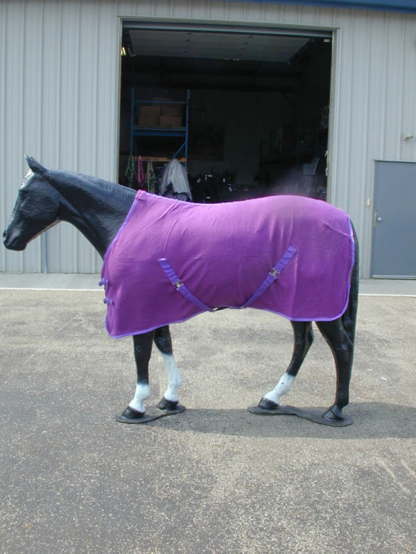 Horse Fleece Cooler/ Blanket Liner 78 Purple