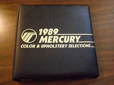 Mercury Dealers Product Guide 1989 Color + Trim Book