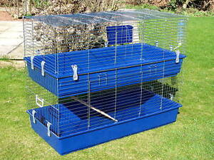 Large-Indoor-Rabbit-Guinea-Pig-Hutch-Cage-Run-New
