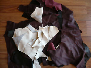 BRAND NEW LEATHER SCRAPS,PIECES OFF CUTS CRAFTS HOBBIES 1.5 kg