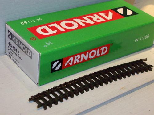 Arnold Spur N : HN8012 gebogenes Gleis R4 15Grad (VE10)