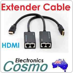 HDMI/DVI to RJ45 Cat 5e/6 Extender 30M 100FT 1080p HDTV