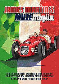 JAMES MARTIN - JAMES MARTIN'S MILLE MIGLIA - NEW / SEALED DVD - UK STOCK