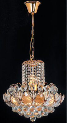 Lighting 6-lights / Lamp Pagoda Chandelier In Gold Chrome Finish With Crystal