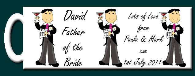 Personalised Father of the Bride Mug - Wedding Gift