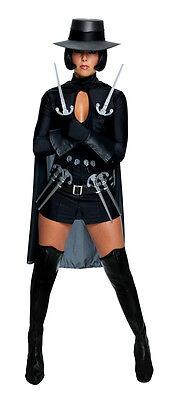 V For Vendetta Kleid Umhang Handschuhe Schwarz Damen Sexy Kostüm Halloween M ()