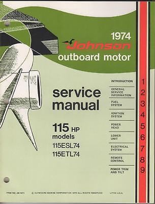 1974 Johnson Outboard Motor Service Manual 115 H.p.