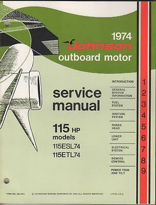 1974 Johnson Outboard Motor Service Manual 115 H.p.