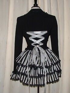 black jacket coat 16 riding bustle laced up corset goth steampunk victorian