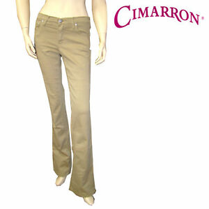 cimarron pantalon bootcut beige et kaki stretch femme ebay. Black Bedroom Furniture Sets. Home Design Ideas