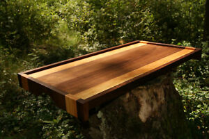 Handmade-Walnut-Cherry-Wood-Serving-Tray-Bed-Ottoman