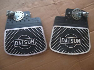 NOS-Datsun-Mud-Flaps-120Y-240Z-Fairlady-510-1000-1600-Z-Skyline-520-620-Pick-Up