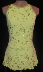 Light Green Ice Skating Dress / Ladies Adult Small