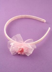 KIDS-PINK-WHITE-SATIN-RIBBON-ROSE-ALICEBANDS-HEADBAND