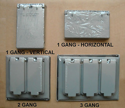 Bell Outdoor Weatherproof Box Decora Gfci Cover 1 (vertical Horizontal) 2 3 Gang