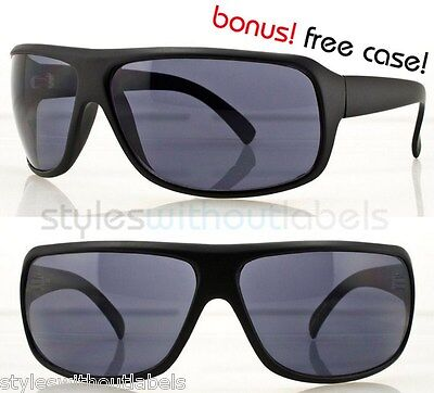 Sport Wrap Around Driving Biker Sunglasses Matte Black