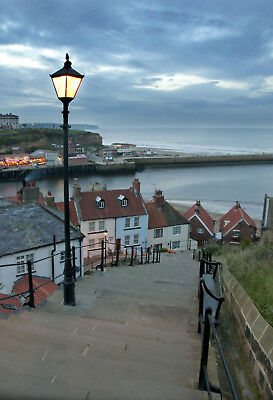 Limited Edition Original Print: Whitby Steps  *DISCOUNTED OFFERS* A3 / A4