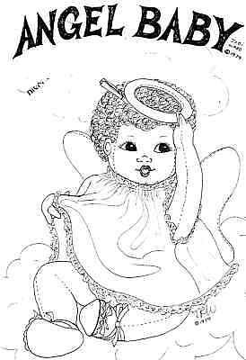 "18""CLOTH/SOFT SCULPTURE ANGEL-BABY DOLL&DRESS&DIAPER&SANDLES/SHOES PATTERN"
