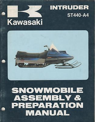 1981 KAWASAKI SNOWMOBILE INTRUDER ASSEMBLY/PREP MANUAL