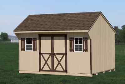 AMISH PA DUTCH CUSTOM QUALITY HANDMADE10X12 QUAKER GARDEN UTILITY SHED LANCASTER on Rummage