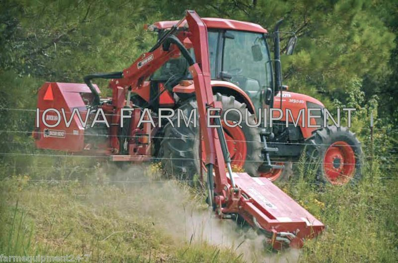 Flail Boom Mower:bush Hog Rmb1660-1,tractor 3-pt,pto Powered,47cut,16'-5 Reach