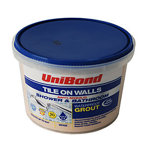 Unibond Tile Grout - Waterproof - Beige - 1.5kg