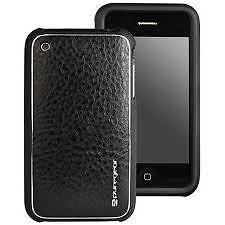 PureGear Leather Snap On Case iPhone 3G/3GS Black