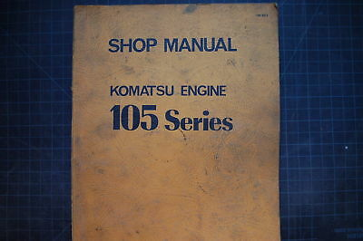 Komatsu 105 Dozer Tractor Crawler Engine Service Manual Repair Shop Overhaul