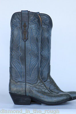 new T O STANLEY ALLIGATOR WOMENS COWBOY BOOTS MINT NWOB