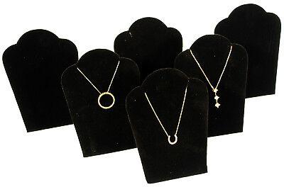 6 Black Velvet Pendant Necklace Jewelry Display 5
