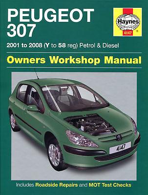 Haynes Manual 4147 Peugeot 307 1.4 HDi 1.6 HDi 2.0 HDi Diesel 2001-2008 NEW