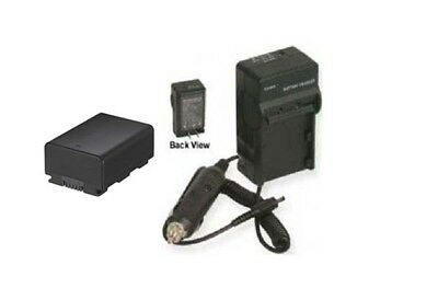 Battery + Charger For Samsung Hmx-h305bn Hmx-h305bp