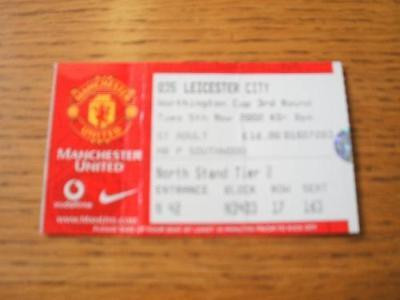 05/11/2002 Ticket: Manchester United v Leicester City [