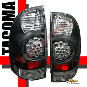 05 06 07 08 toyota tacoma led tail lights lamps black 1. Black Bedroom Furniture Sets. Home Design Ideas