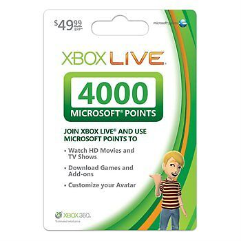 XBOX 360 LIVE 4000 POINTS GAMECARD *FACTORY SEALED* on Rummage