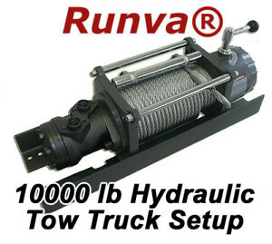 10000lb new runva hydraulic towing recovery winch kit ebay. Black Bedroom Furniture Sets. Home Design Ideas