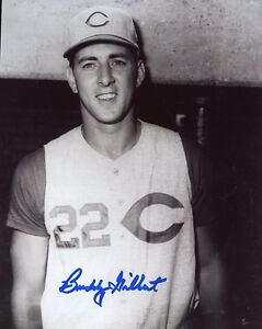 BUDDY-GILBERT-CINCINNATI-REDS-SIGNED-8X10-PHOTO
