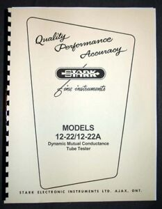 STARK-model-12-22-12-22A-Tube-Tester-Manual-Schematic