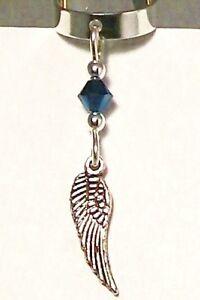 Metallic-Blue-Swarovski-Crystal-Silver-Wing-Ear-Cuff