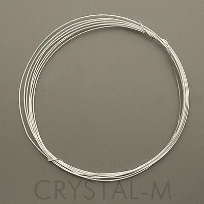 1 Meter Silberdraht; 925 Silber; Sterlingsilber 0,3 mm