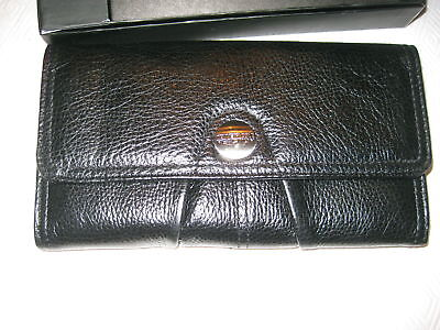 Kenneth Cole Women N Black Leather Wallet Credit Cards