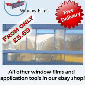 MIRROR-SILVER-80-95-99-ONE-WAY-PRO-WINDOW-TINTING-TINT-FILM