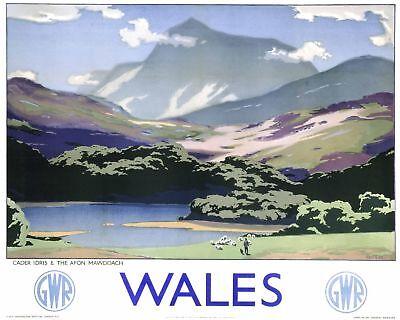 Wales Cader Idris (old GWR ad.) fridge magnet    (se)