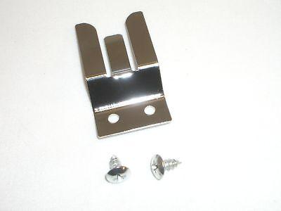 Workman Mh-2 Cb Radio 3-finger Chrome Steel Hand Microphone Holder Hanger Clip