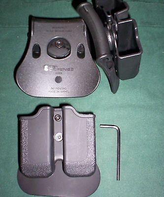 Dual Magazine Swivel Pouch Springfield Xdm Double Mags Roto S&w M&p 9/40