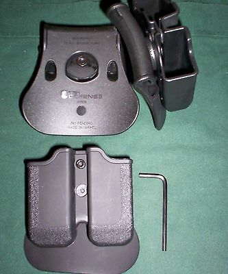 Dual Magazine Swivel Pouch Springfield Xdm Double Mags Roto S&w M&p 9/40