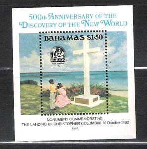 BAHAMAS-753-MNH-S-S-MONUMENT-TO-COLUMBUS-SCV-6-50